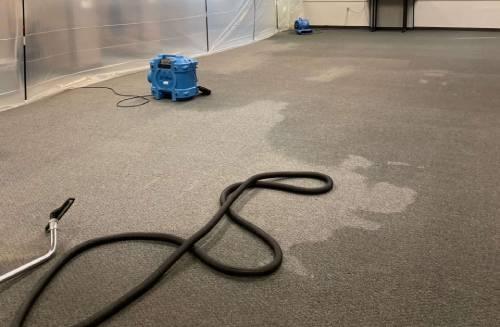 Water mitigation in basement